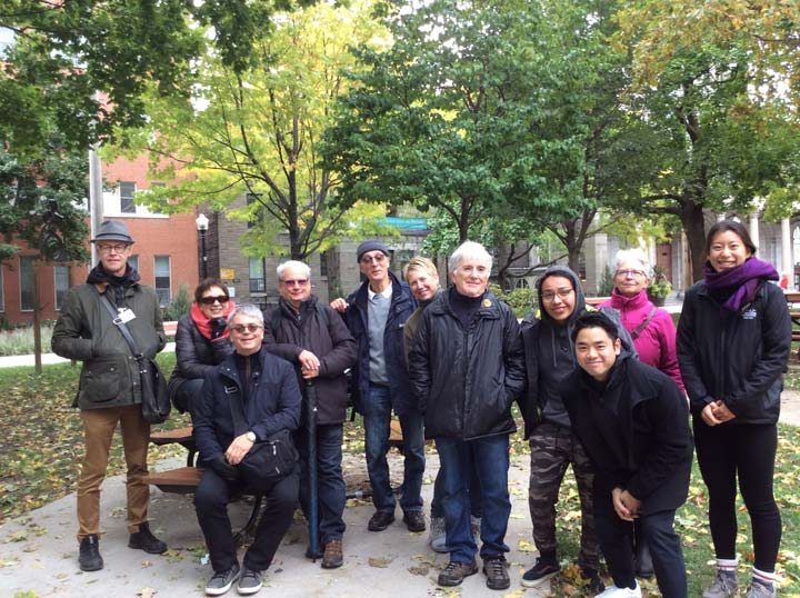 Photo de groupe de la visite du Mile-End